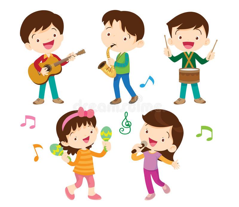 Dancing Kids Stock Illustrations.