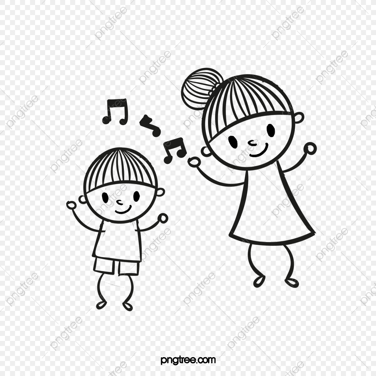 Dancing Kids, Dancing Clipart, Kids Clipart, Dancing PNG Transparent.
