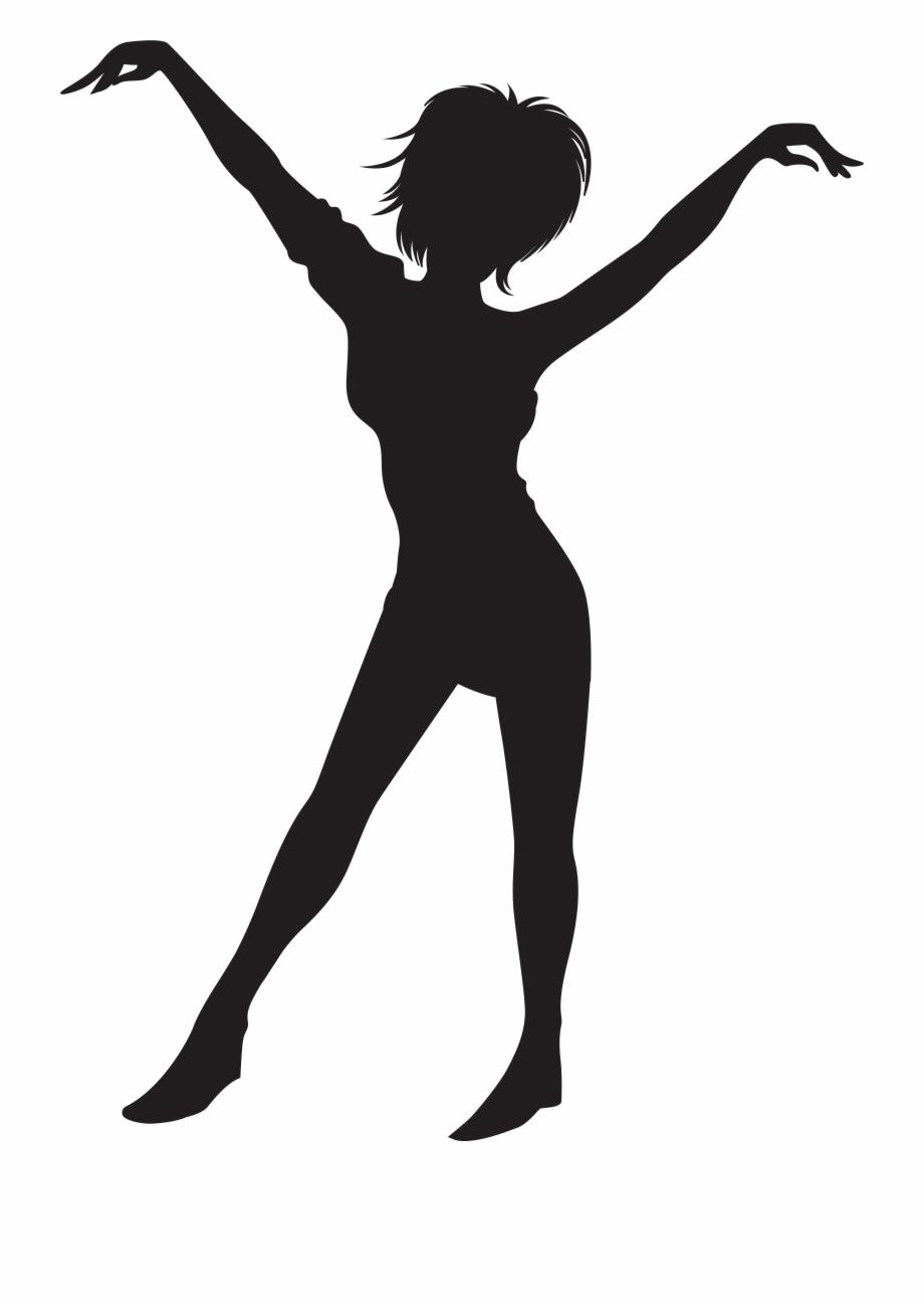 Dancing Girl Silhouette Clip Art Png Image.