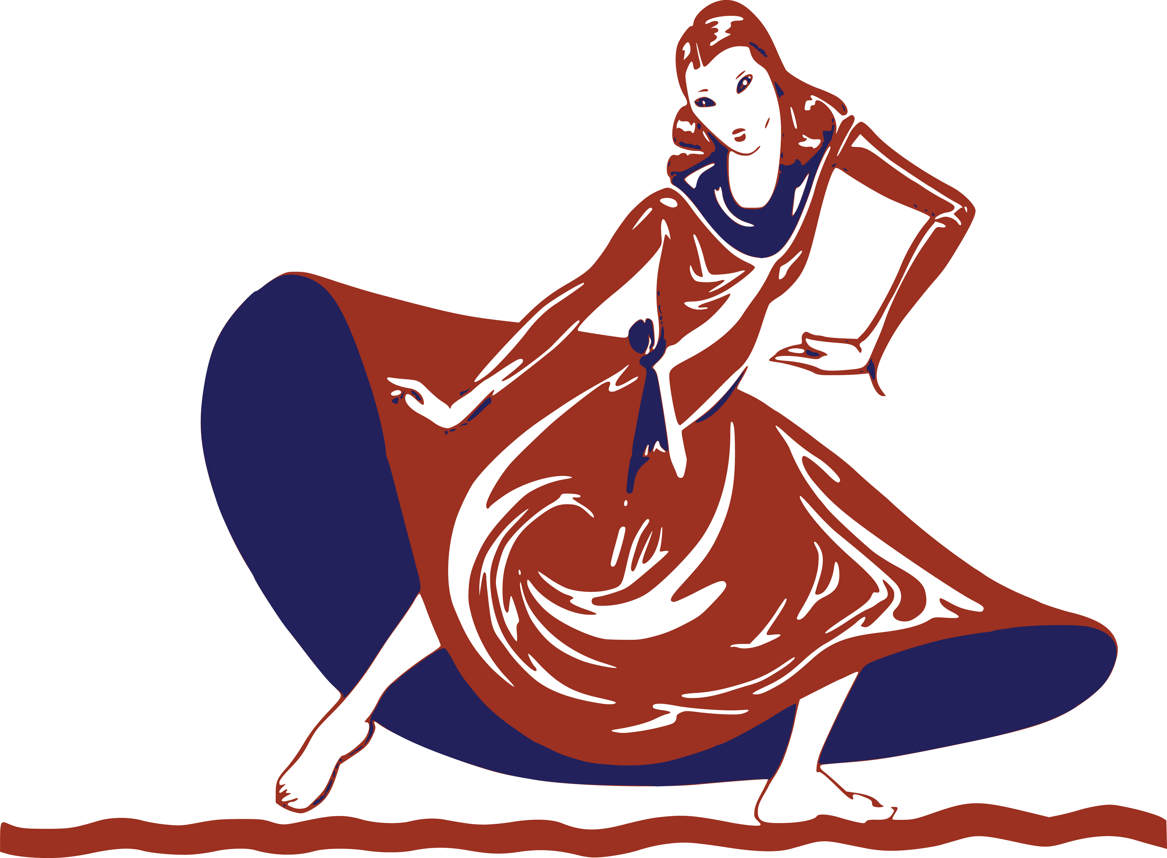Free Clipart Of A dancing lady.