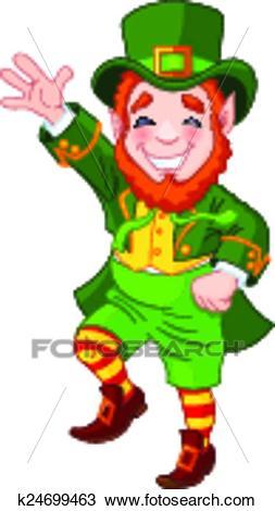 Lucky Dancing Leprechaun Clipart.