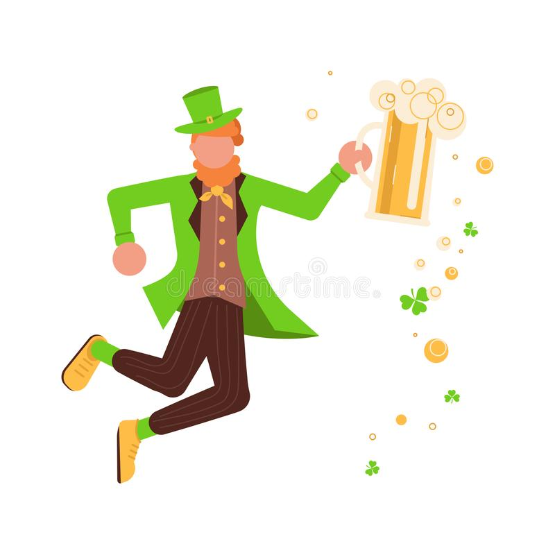 Leprechaun Dancing Stock Illustrations.