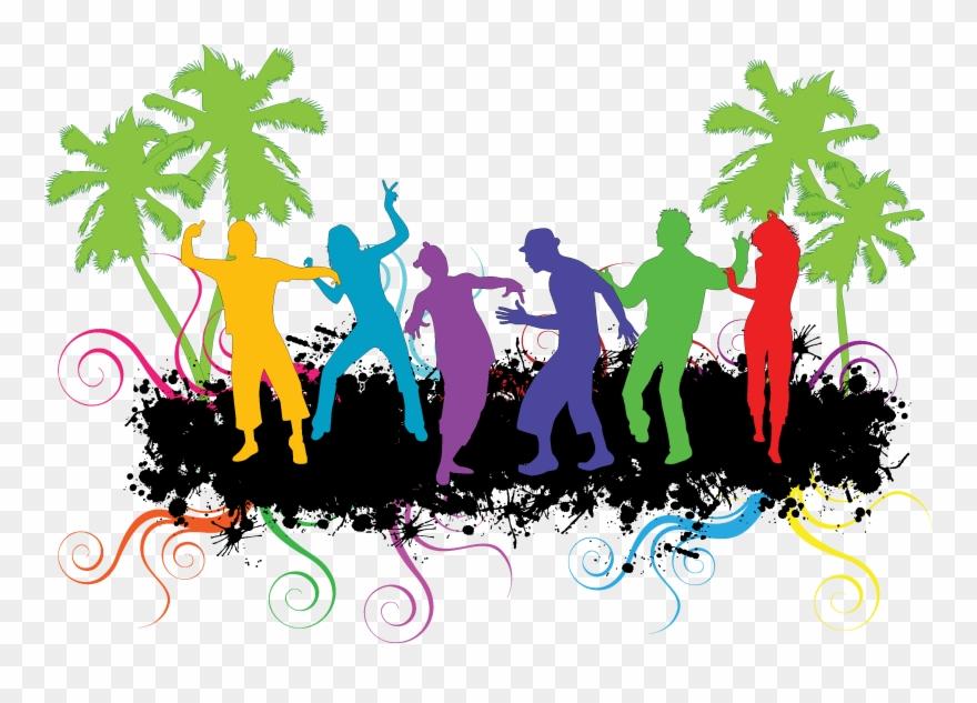 Dance Party Clip Art Silhouette Transprent Png.