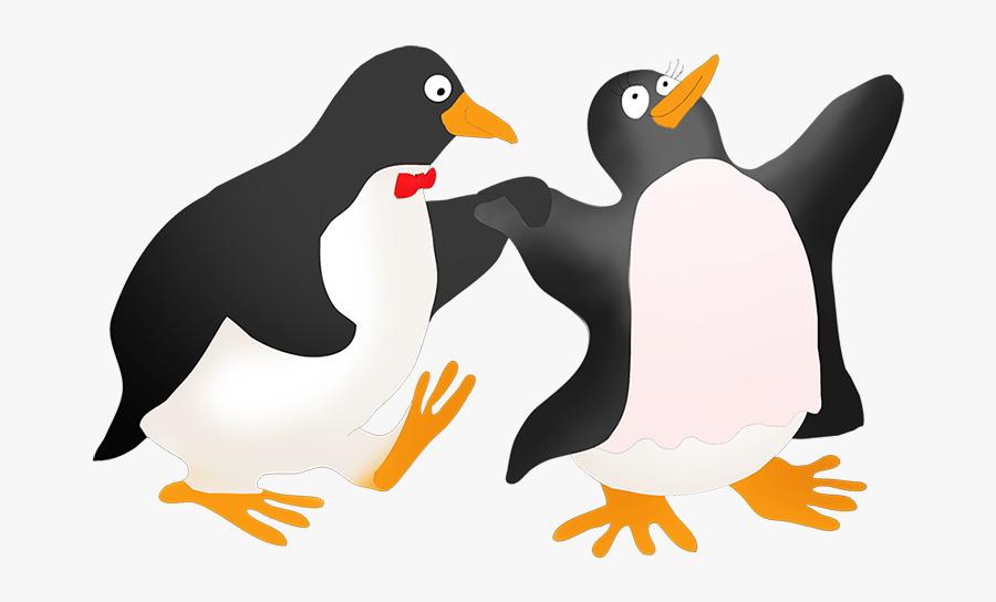 Dancing Penguin Couple.