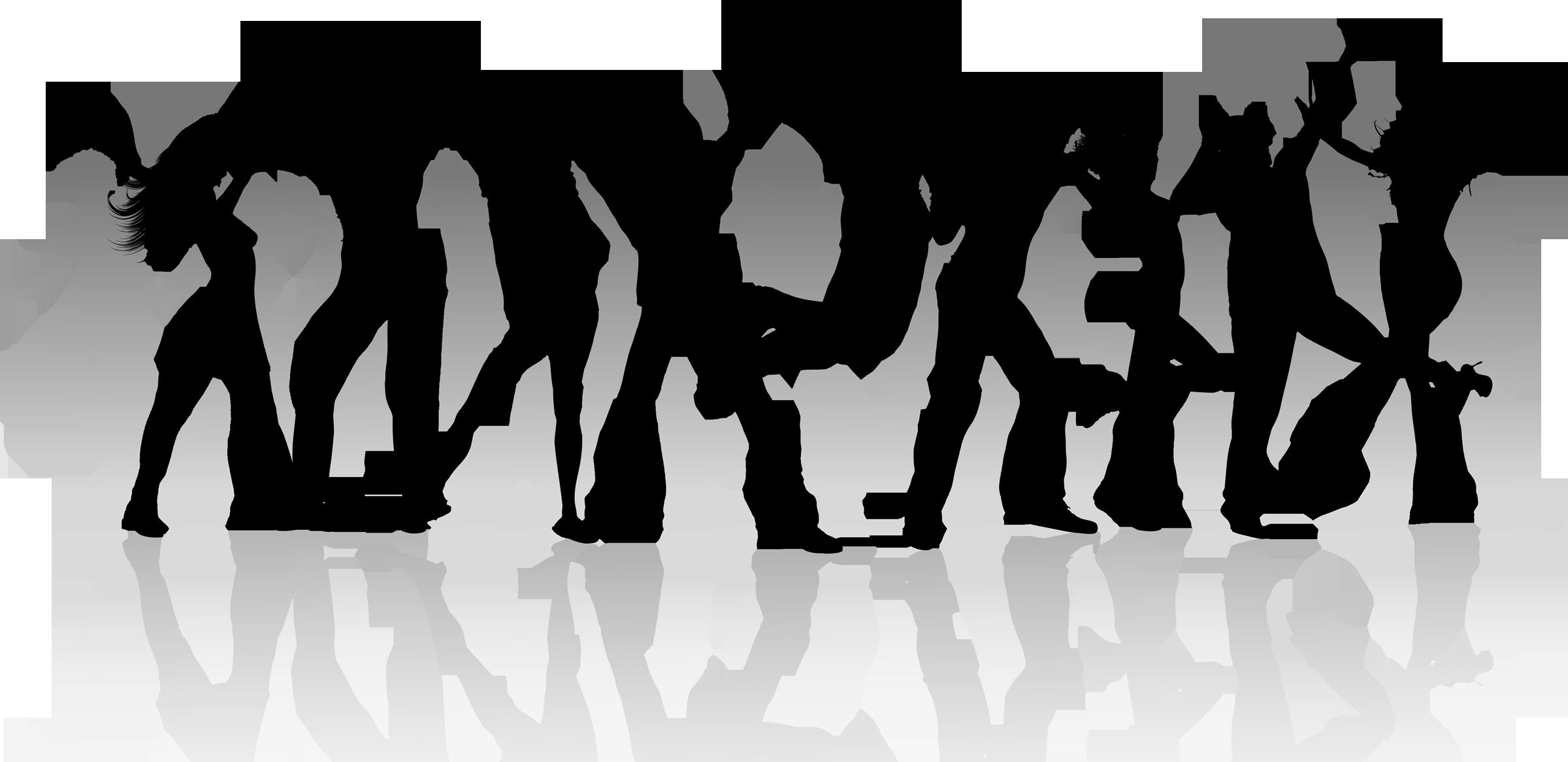 Group dance Silhouette Clip art.