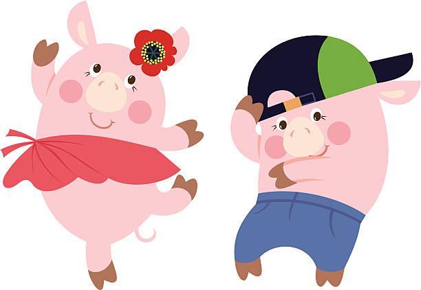 Best Dancing Pig Illustrations, Royalty.