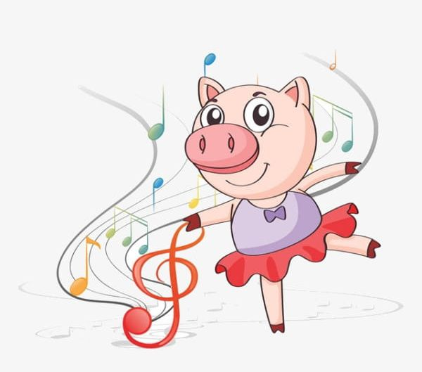 Cartoon Pig Dancing PNG, Clipart, Cartoon, Cartoon Clipart, Cartoon.
