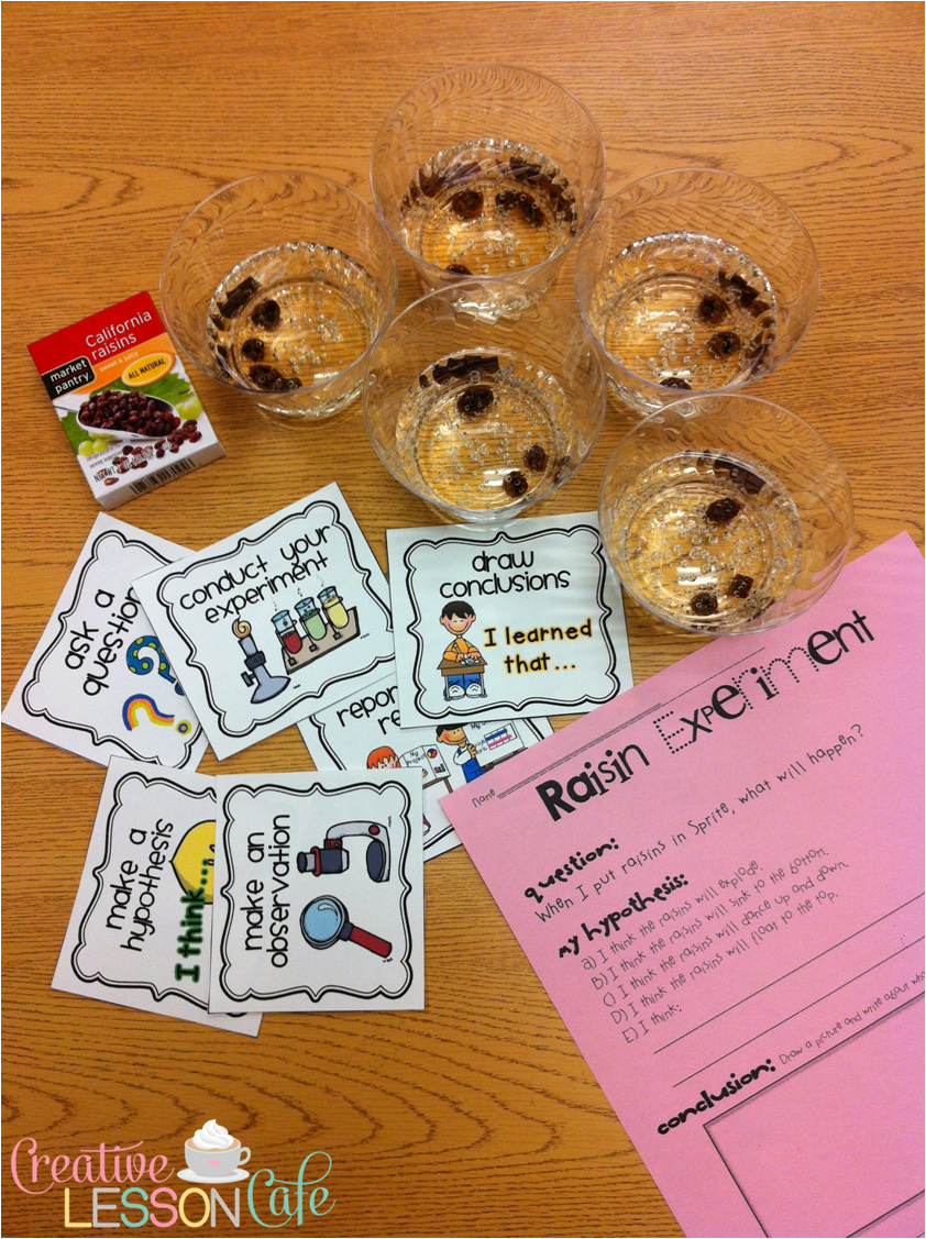 Creative Lesson Cafe: Dancing Raisins Experiment: Simple Science Fun!.