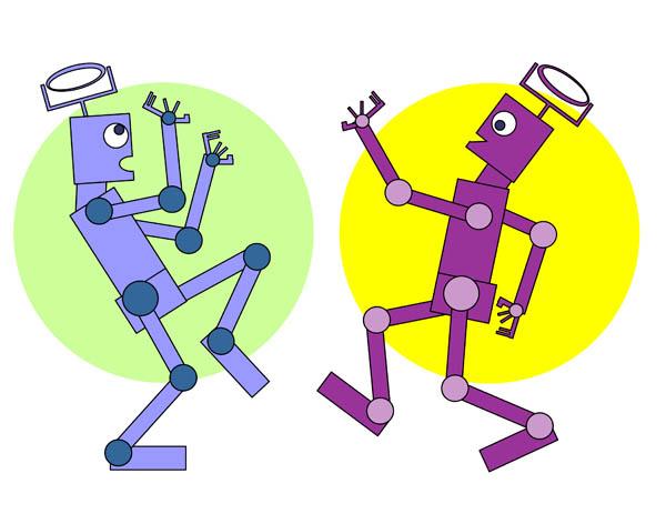 Dancing Robot Clipart.