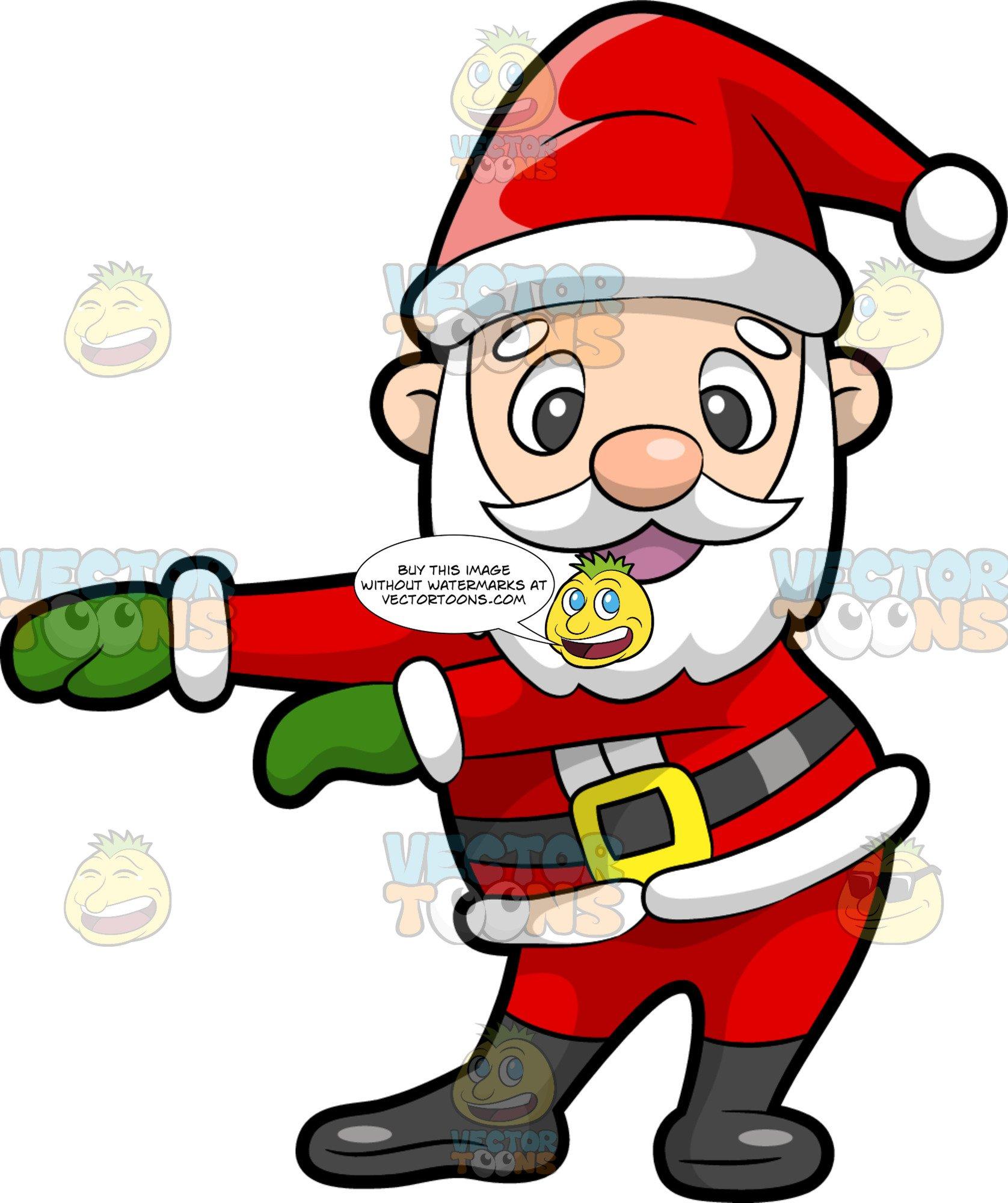 Santa Claus Dancing The Floss.