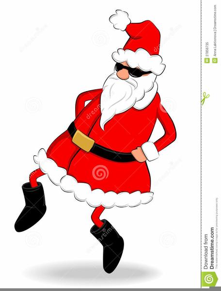Dancing Santa Clipart Free.