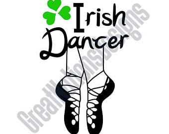 Irish Dancing Shoes Clipart.