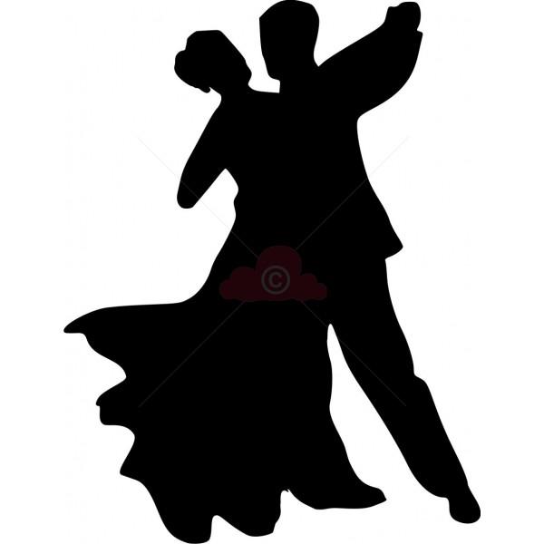 Dance Silhouettes Clipart.