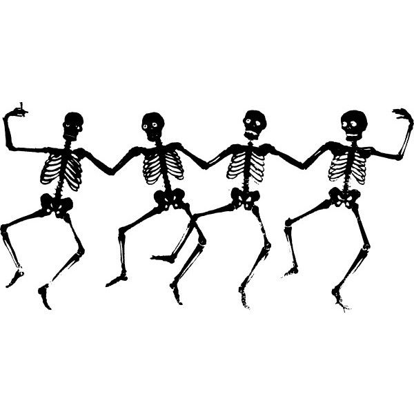 Dancing Skeletons clip art Free vector in Open office drawing svg.