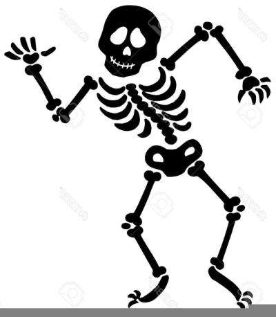 Free Dancing Skeleton Clipart PNG.