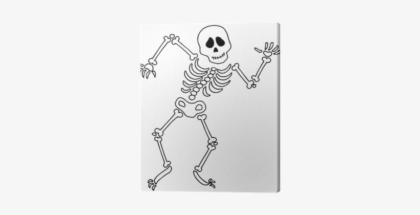 Dancing Skeleton PNG Image.