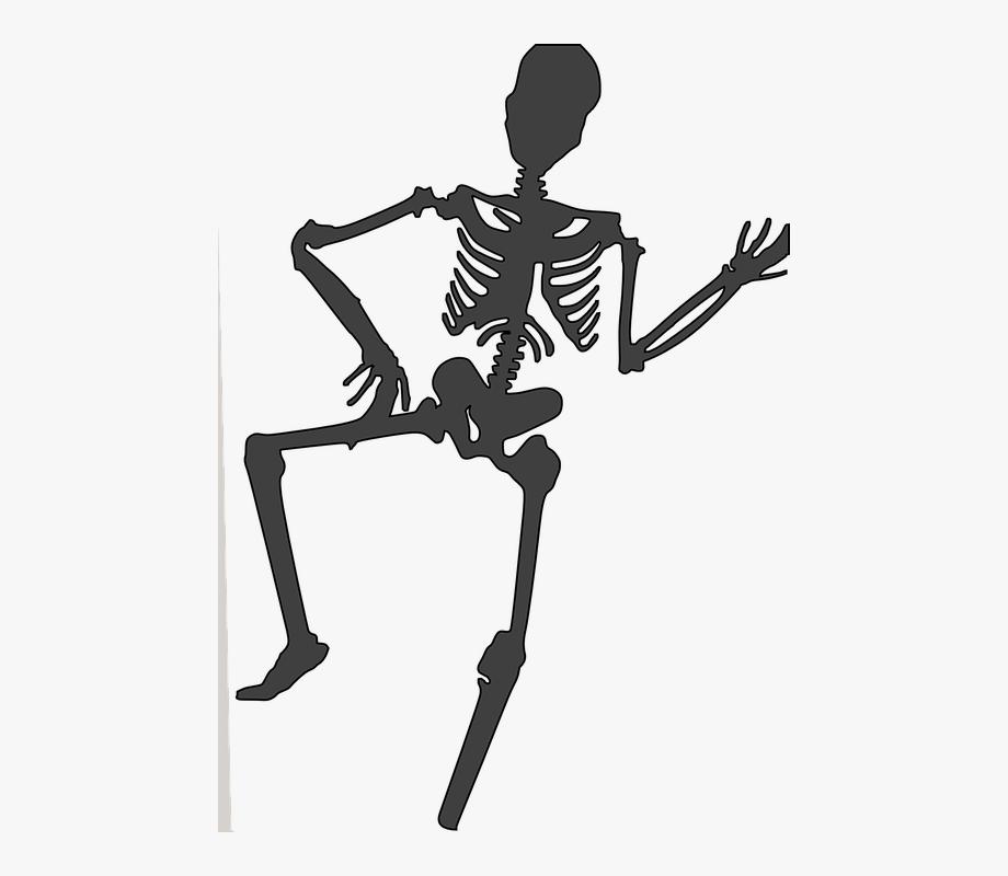 Skeleton Dead Human Cartoon Bones Funny Dancing.