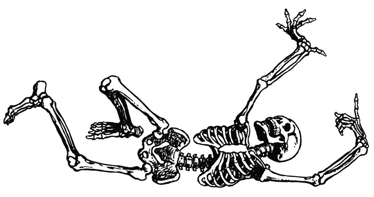 Clipart Skeleton Dancing.