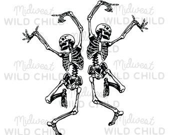 Dancing skeleton svg.