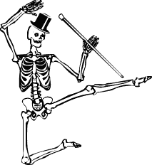 dancing skeleton.