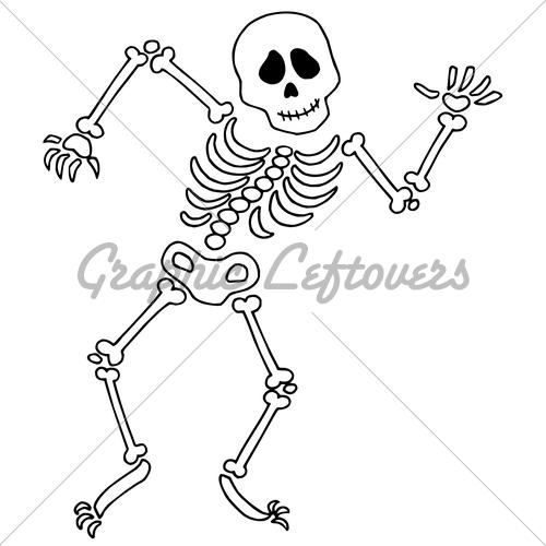 Dancing Skeleton · GL Stock Images.