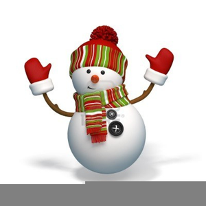 Animated Dancing Snowman Clipart.