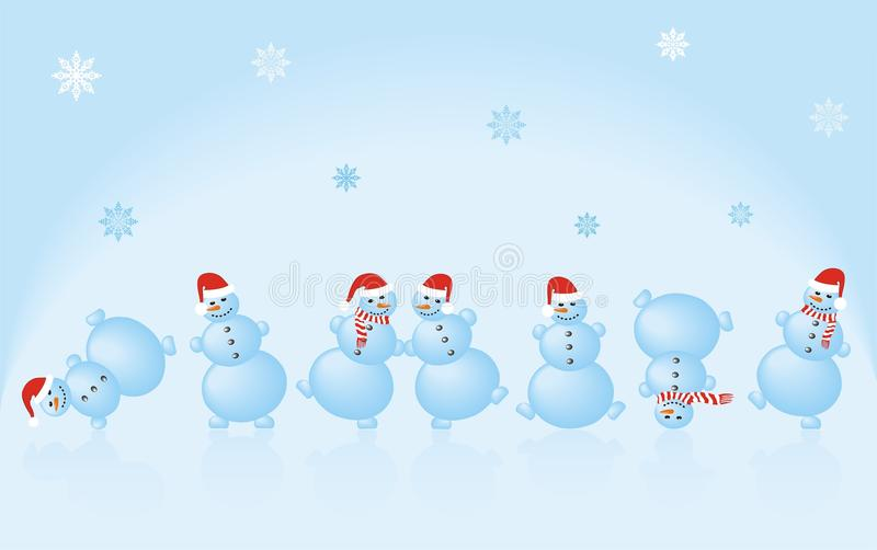 Dancing Snowman Stock Illustrations.