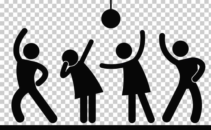 Stick Figure Nightclub Dance Party PNG, Clipart, Bar, Black And.