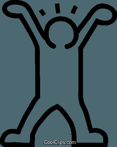 dancing stick figure Royalty Free Vector Clip Art illustration.