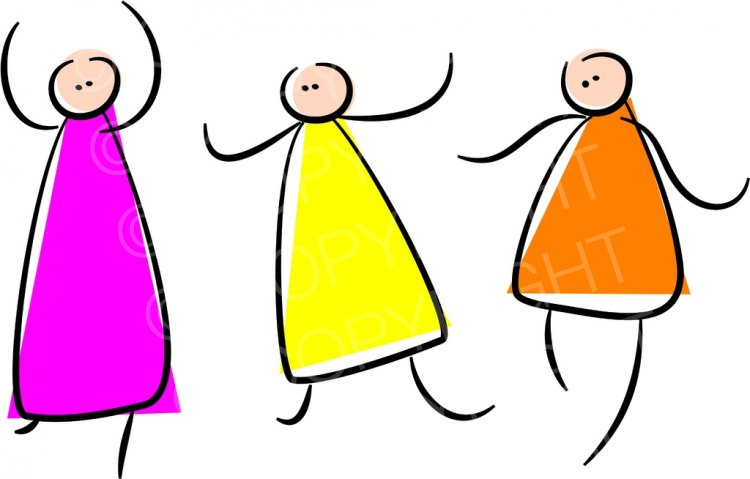Dancing Stick Figures Prawny People Clip Art.