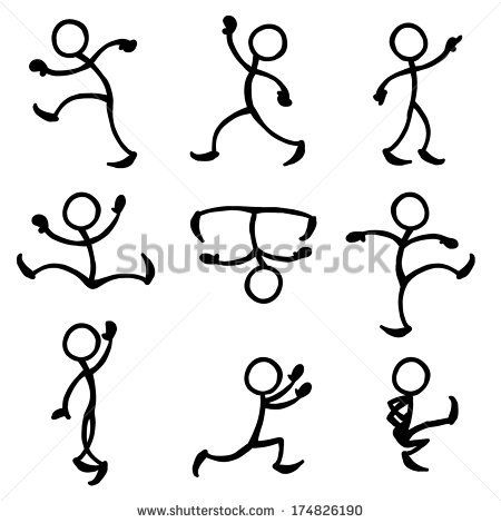 stick people in action, trying to get ideas for dancing stick.