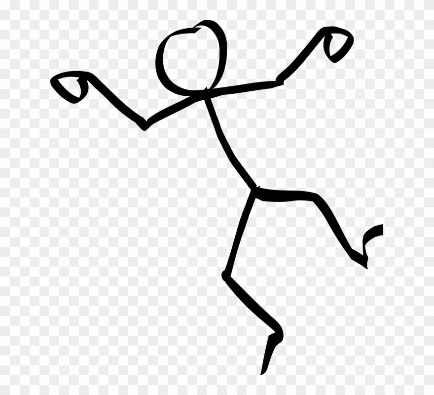 Stick People Dancing Clipart.