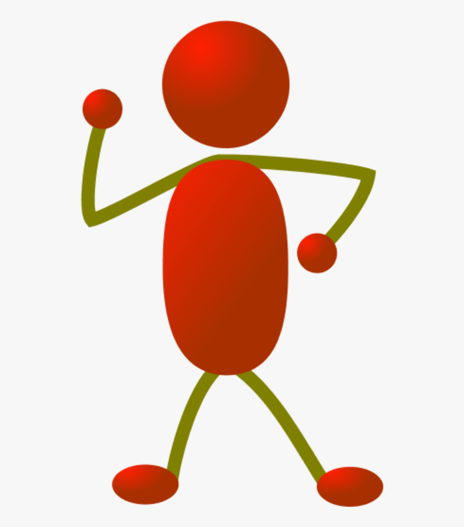 Stick Man Figure Dancing.
