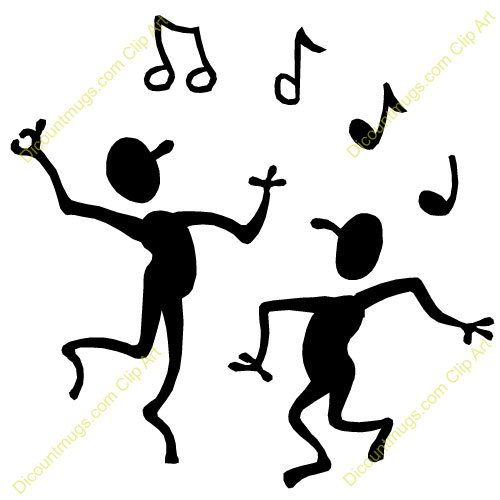 Stick Figure Dancing Clipart.