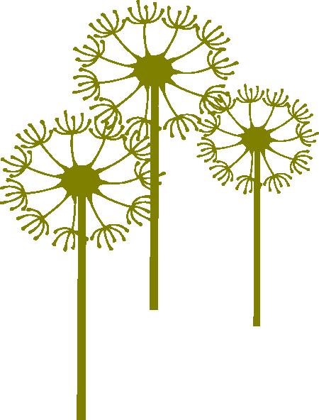 Dandelion clip art free.
