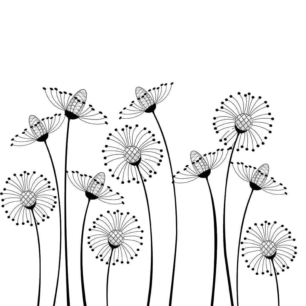 Flower Cartoon Black and white Drawing Clip art.