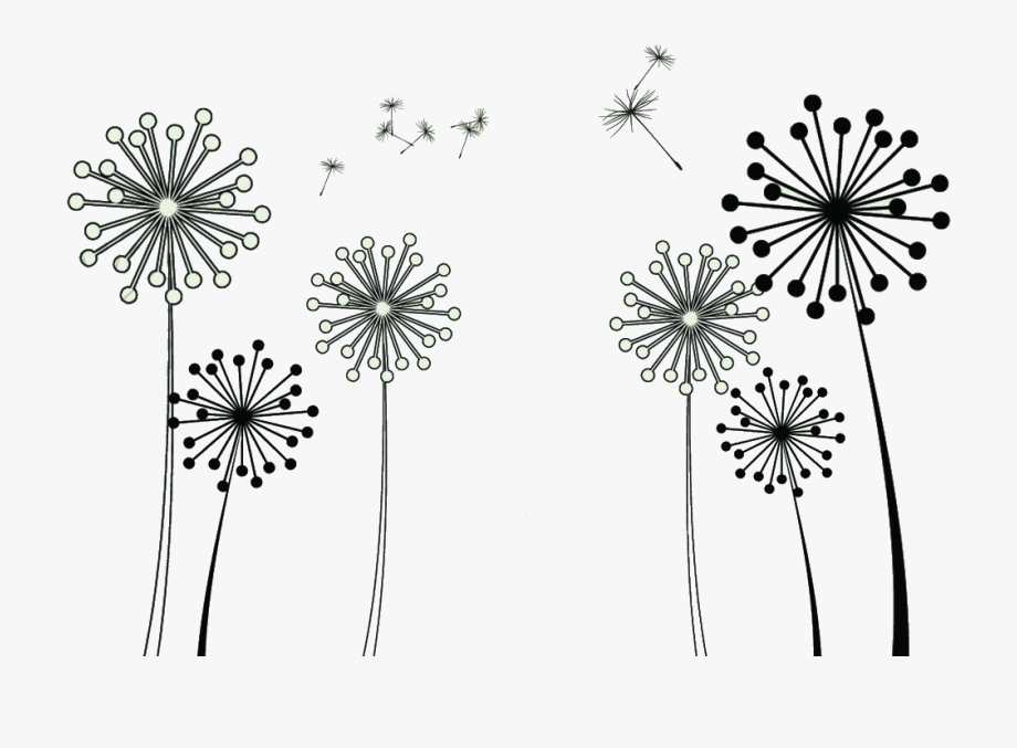Common Dandelion Taraxacum Platycarpum Clip Art.