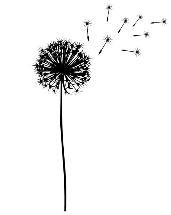 dandelion silhouette for A tat? I want one because My baby.