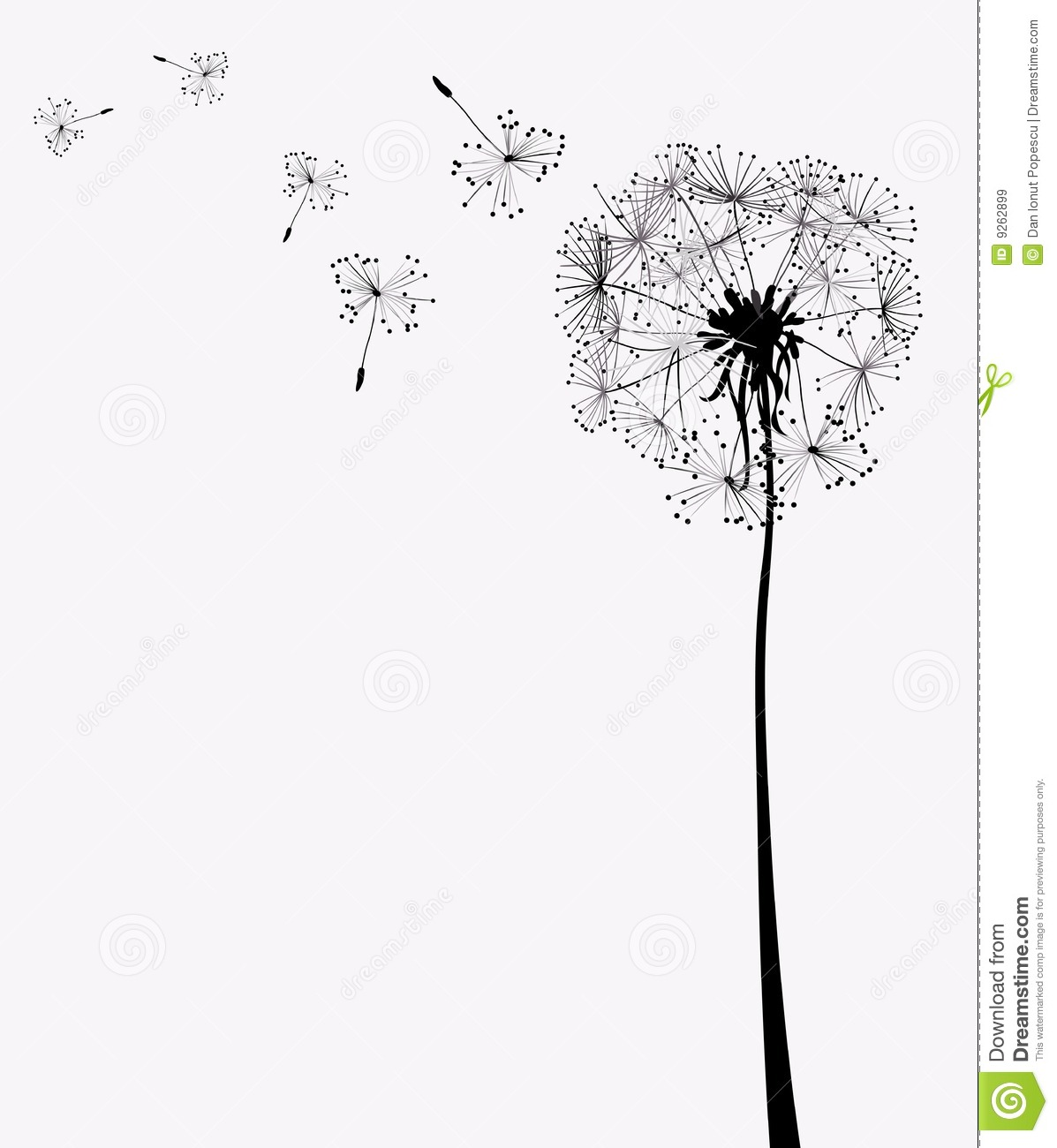 Clip Art Dandelion Fluff.