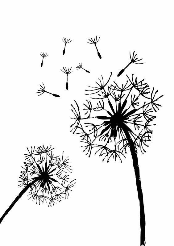 Free Printable Dandelion Stencils.