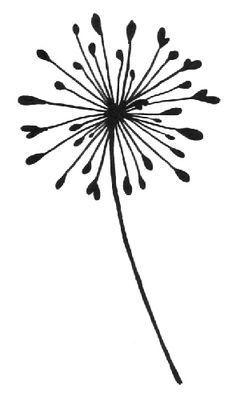 dandelion silhouette clip art.
