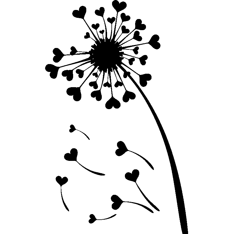 Common Dandelion Silhouette Wall decal.