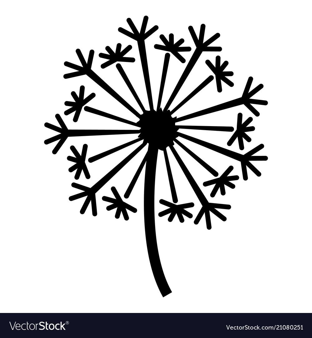 Dandelion icon simple style.
