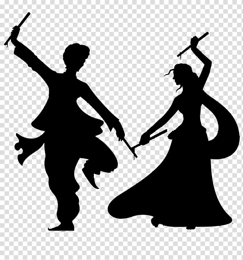 Man and woman dancing template, Dandiya Raas Garba Dance.