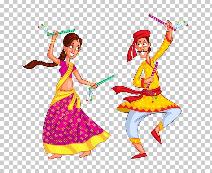 Dandiya Raas Garba Dance PNG, Clipart, Art, Clothing, Costume.
