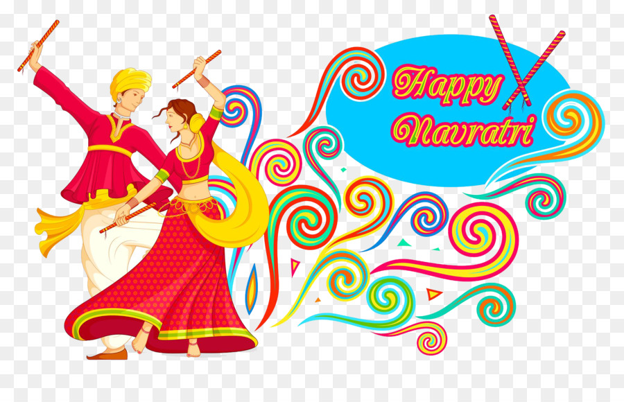 Garba Dandiya Raas Navaratri Vector graphics Royalty.