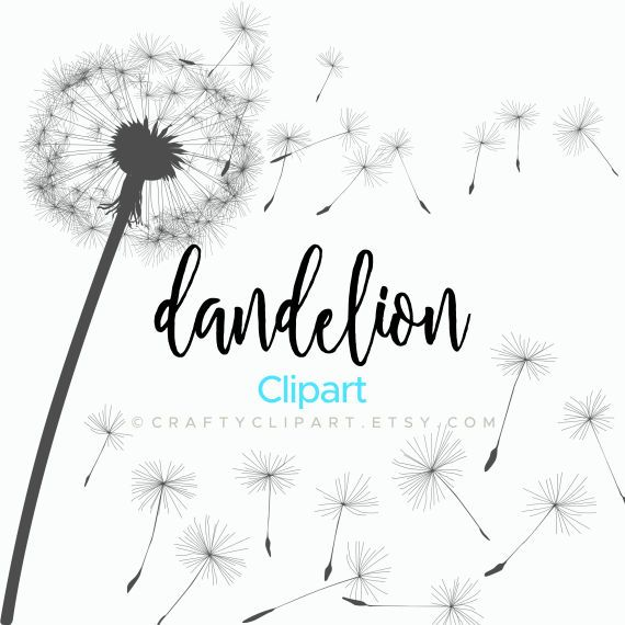 Dandelion Clipart Dandylion Blowing Dandelion Vector.