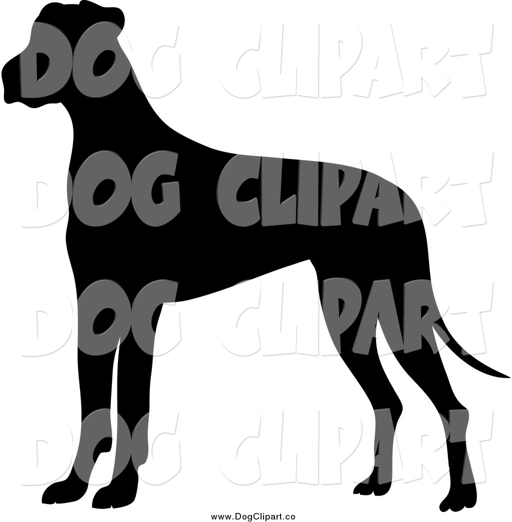 Vector Clip Art of a Silhouetted Great Dane Dog by Pams Clipart.