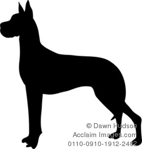 Great Dane Clipart.