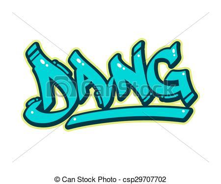 Vector Clipart of Urban Dang Graffiti.